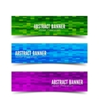 Three abstract banner vector