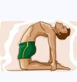 Yoga man vector