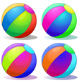 Four colorful inflatable balls vector