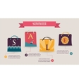 Summer sale infographics with colorful shopping vector