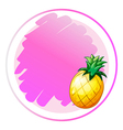 A round template with a pineapple vector