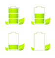 Set of green eco friendly battery icons vector