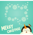 Merry christmas greeting card vector