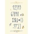 Decorative alphabet and floral elements vector