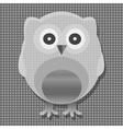 Cute metal owl vector