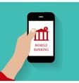Mobile bank concept vector