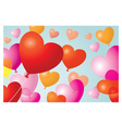 Heart shape balloons background vector