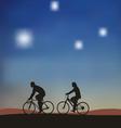 Cyclists vector