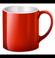 A handy red mug vector