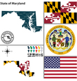 Map of maryland vector