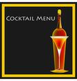 Cocktail menu template vector
