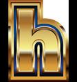 Golden font letter h vector