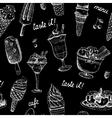 Icecream seamless chalkboard pattern vector