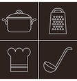 Kitchen symbols vector