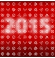 Numbers 2015 with snowflakes vector