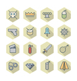 Thin line icons for miscellaneous items vector