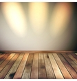 Empty lines wall with 3 spot lights eps 10 vector