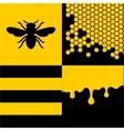 Bee honeycells and honey patterns set vector