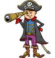 Pirate boy cartoon vector