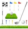 Golf icon set vector