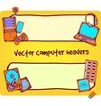 Computer headers vector