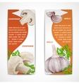 Garlic champignon banners vector