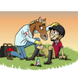 Horse therapy vector
