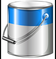 A can of blue paint vector