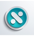 Modern blue circle icon web element vector