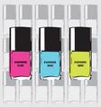 Pantone nail polish vector