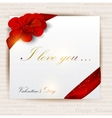 Gift cards with ribbons background vector