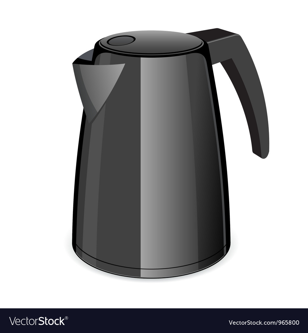 An isolated black electric tea kettle vector | Price: 1 Credit (USD $1)