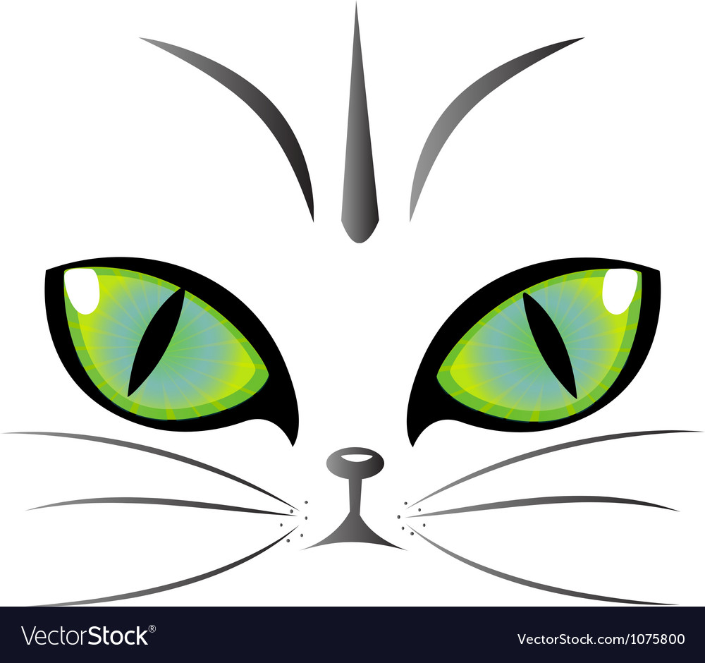 Cat eyes logo vector | Price: 1 Credit (USD $1)