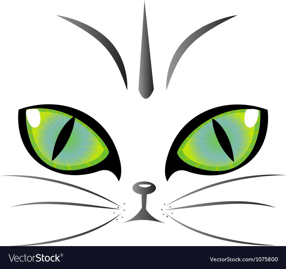 Cat eyes logo vector | Price: 1 Credit (USD $1)