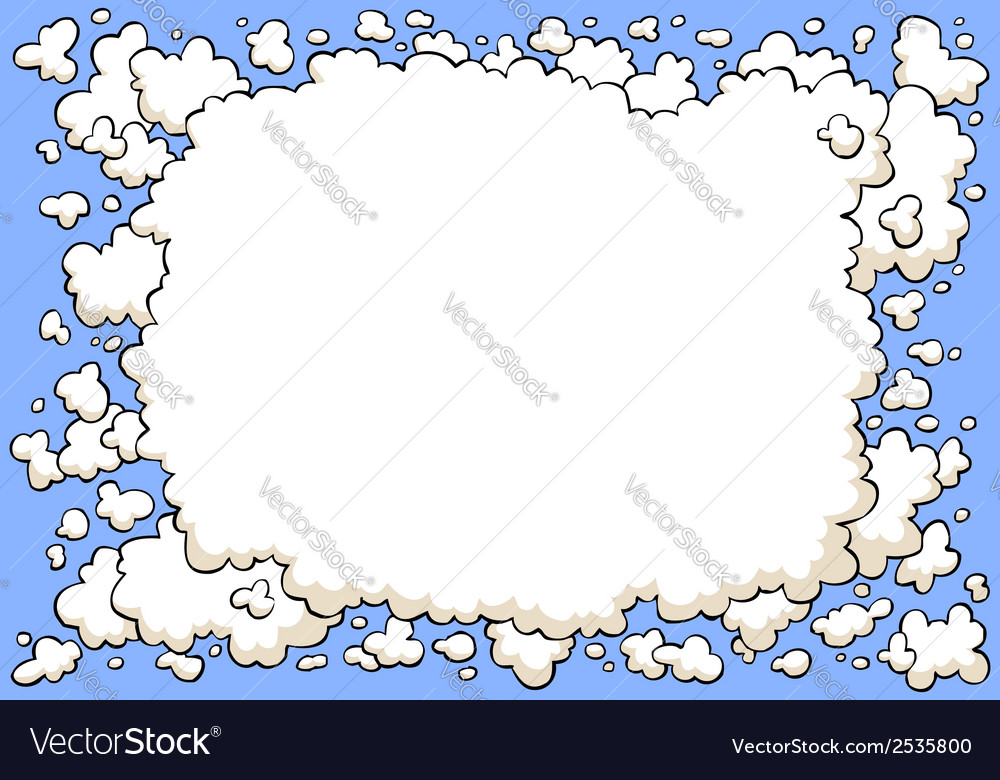 Clouds on blue background vector | Price: 1 Credit (USD $1)
