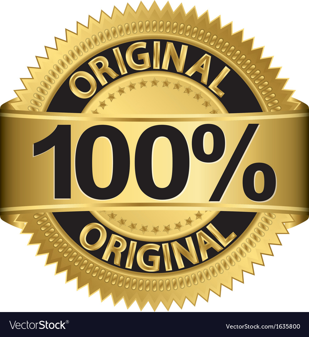 Golden 100 percent original label vector | Price: 1 Credit (USD $1)