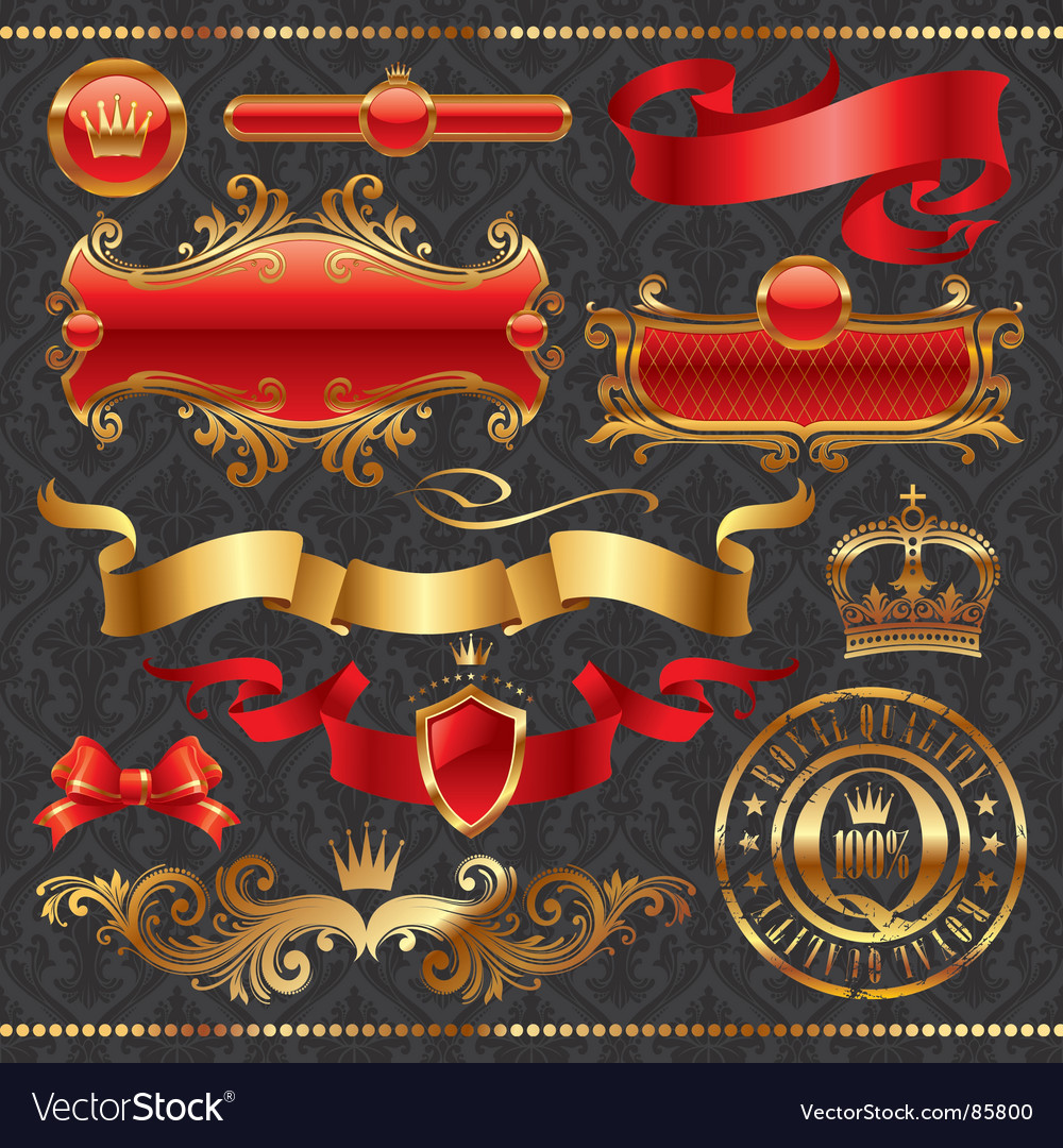 Golden royal design element vector | Price: 1 Credit (USD $1)