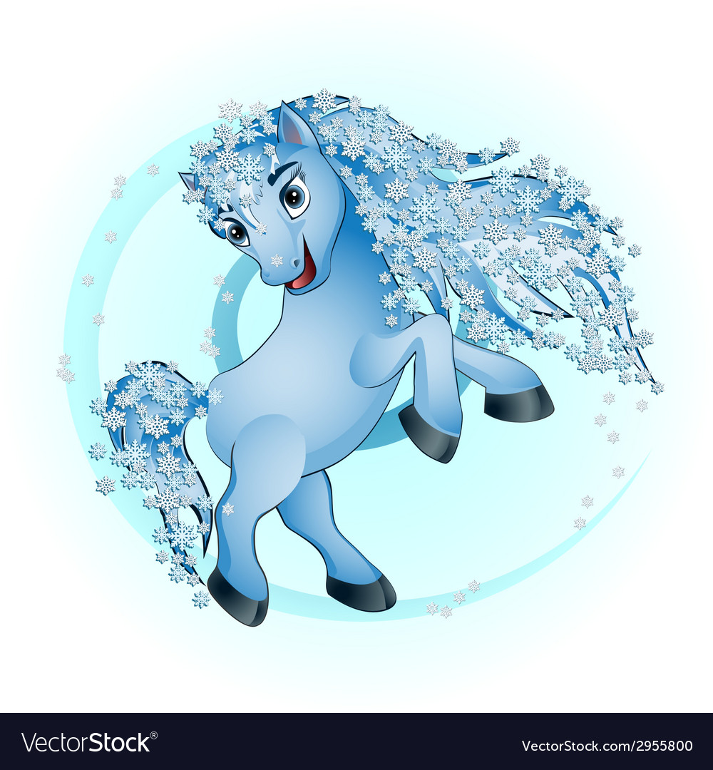 Horse winter vector | Price: 1 Credit (USD $1)
