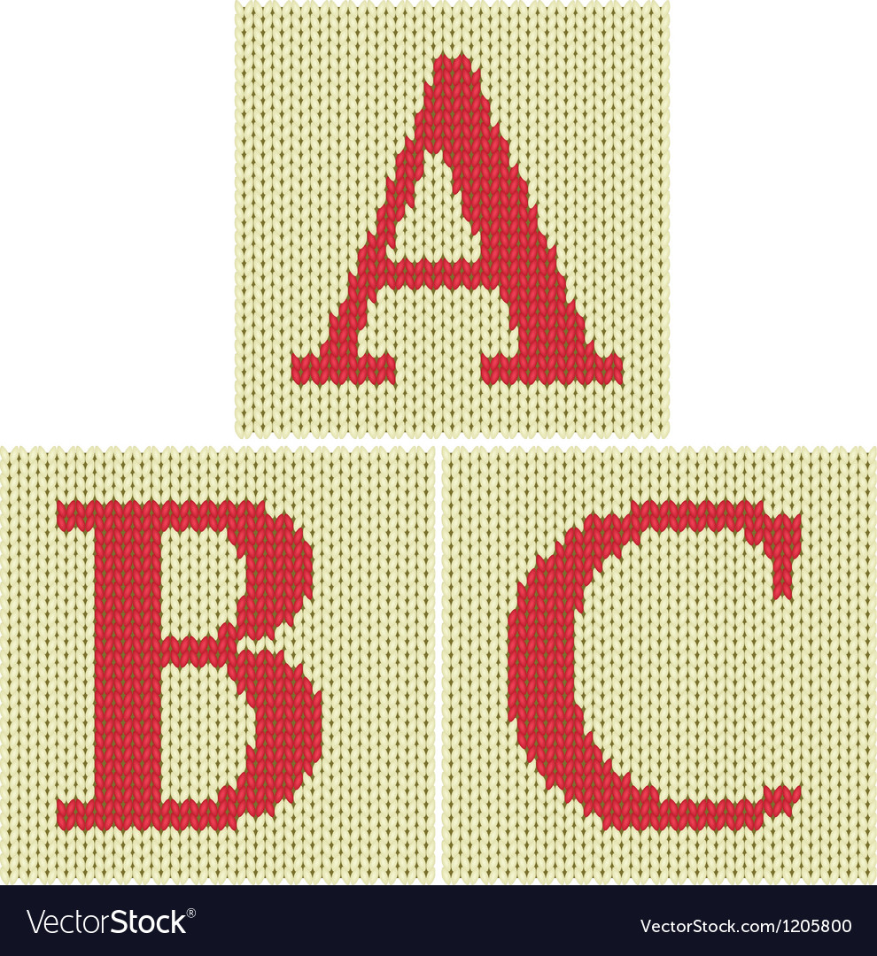 Knitted letters vector | Price: 1 Credit (USD $1)