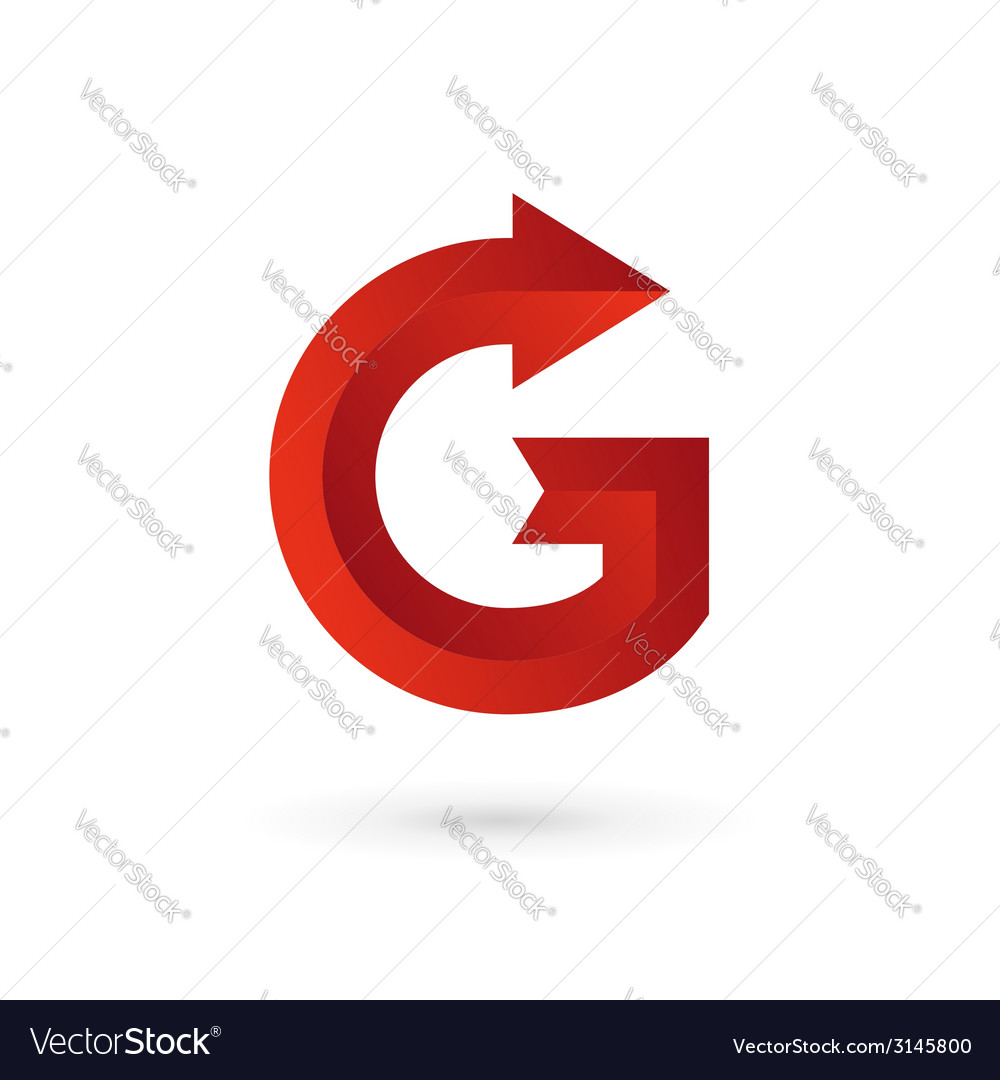Letter g arrow ribbon logo icon design template vector | Price: 1 Credit (USD $1)