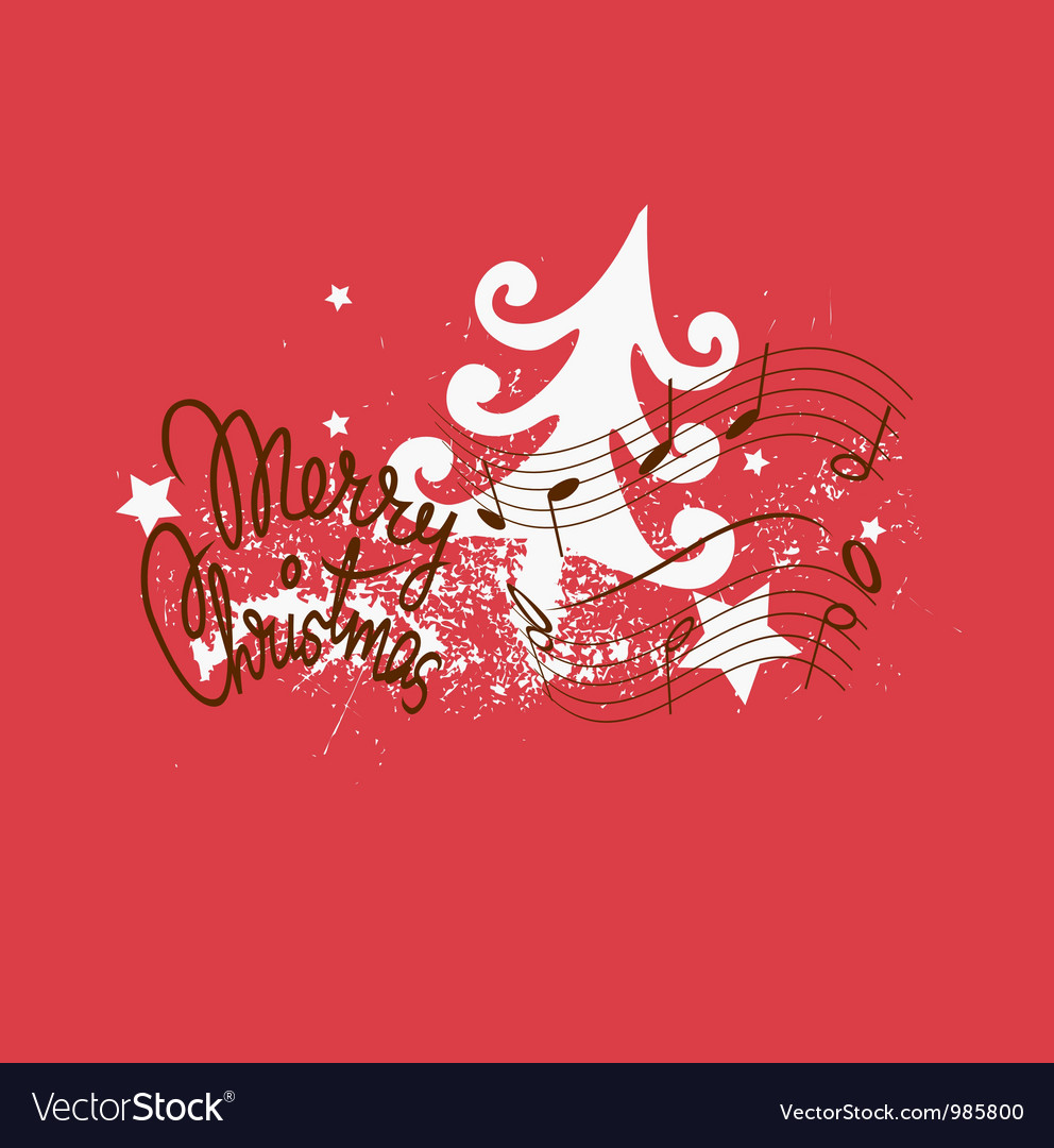 Merry christmas song design vector | Price: 1 Credit (USD $1)