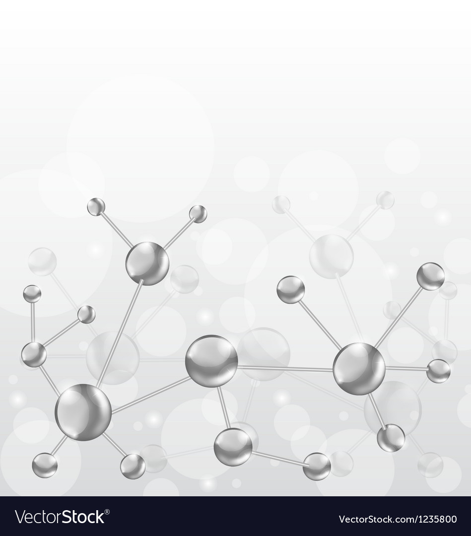 Molecular structures chain with copy space vector | Price: 1 Credit (USD $1)