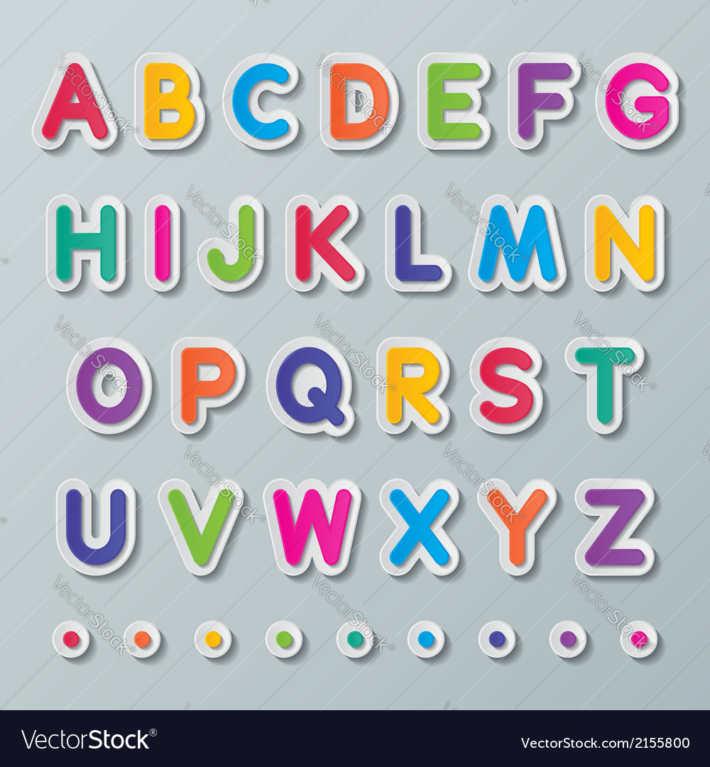 Paper capital letters a to z vector   Price: 1 Credit (USD $1)