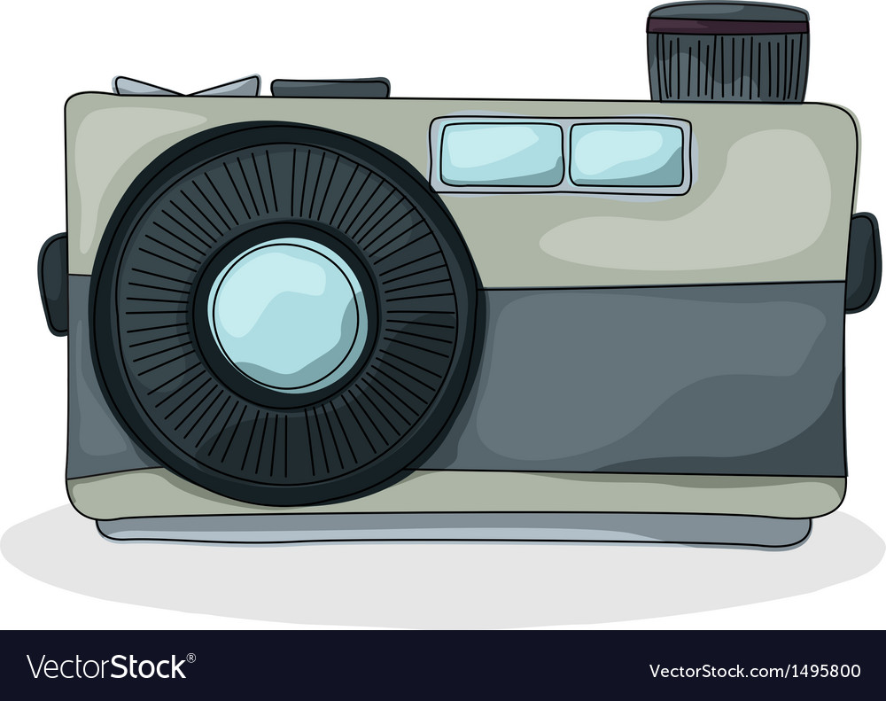 Retro style camera vector | Price: 1 Credit (USD $1)