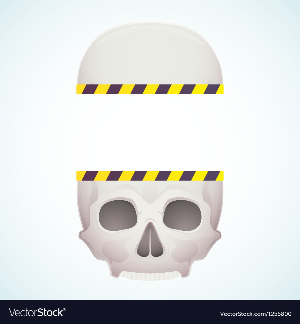Split skull vector | Price: 1 Credit (USD $1)