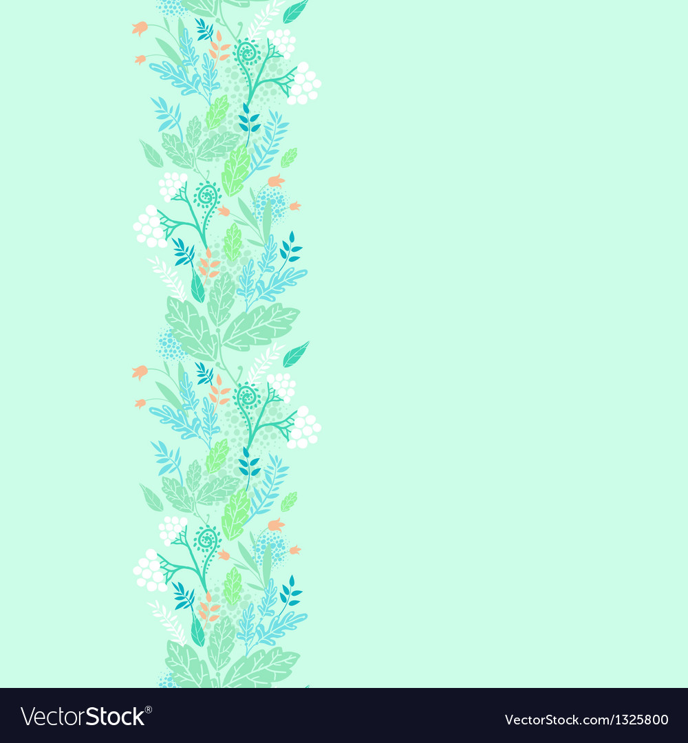 Spring berries vertical seamless pattern vector | Price: 1 Credit (USD $1)