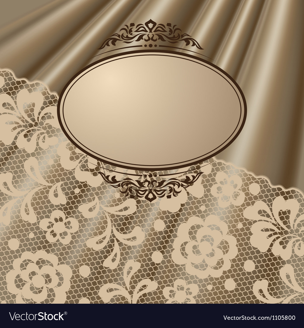 Vintage lace background ornamental flowers vector | Price: 1 Credit (USD $1)