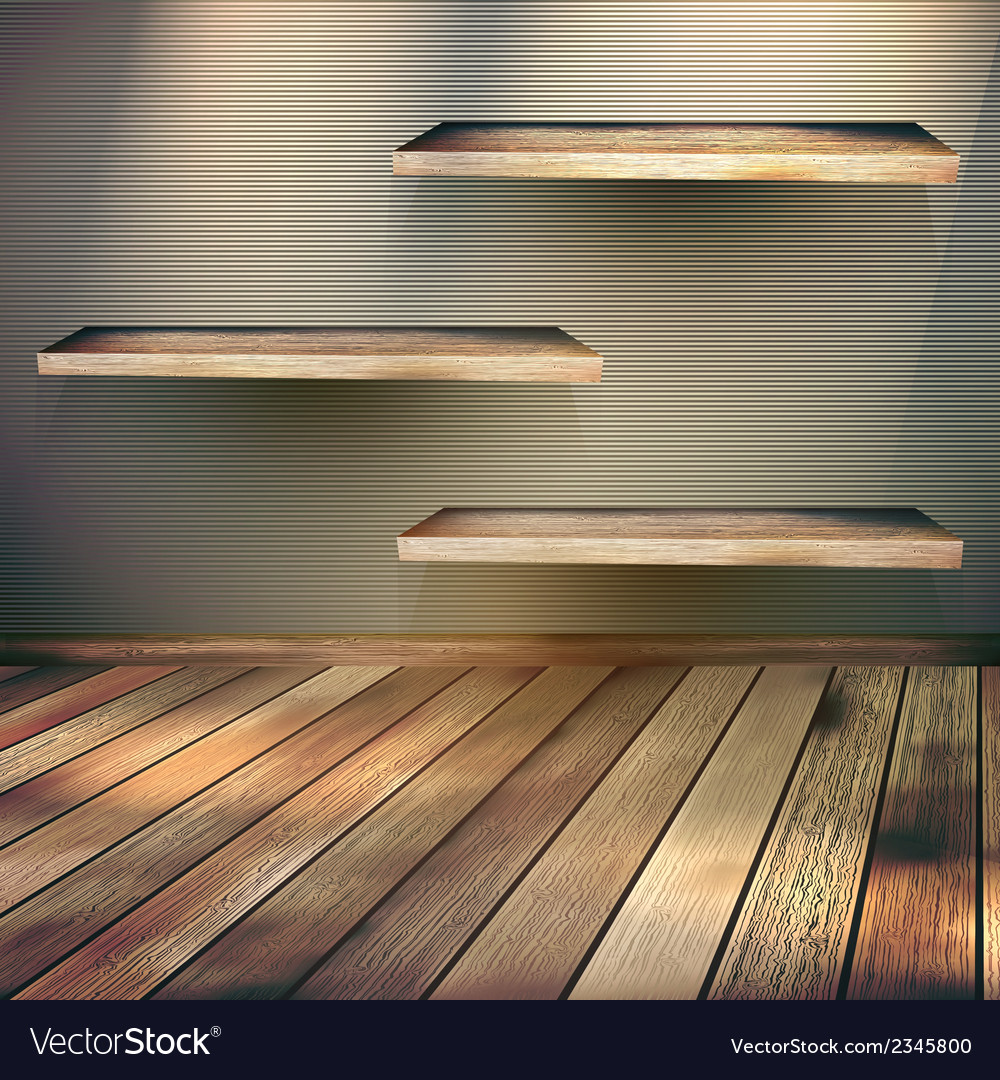 Wooden shelves background eps 10 vector   Price: 1 Credit (USD $1)
