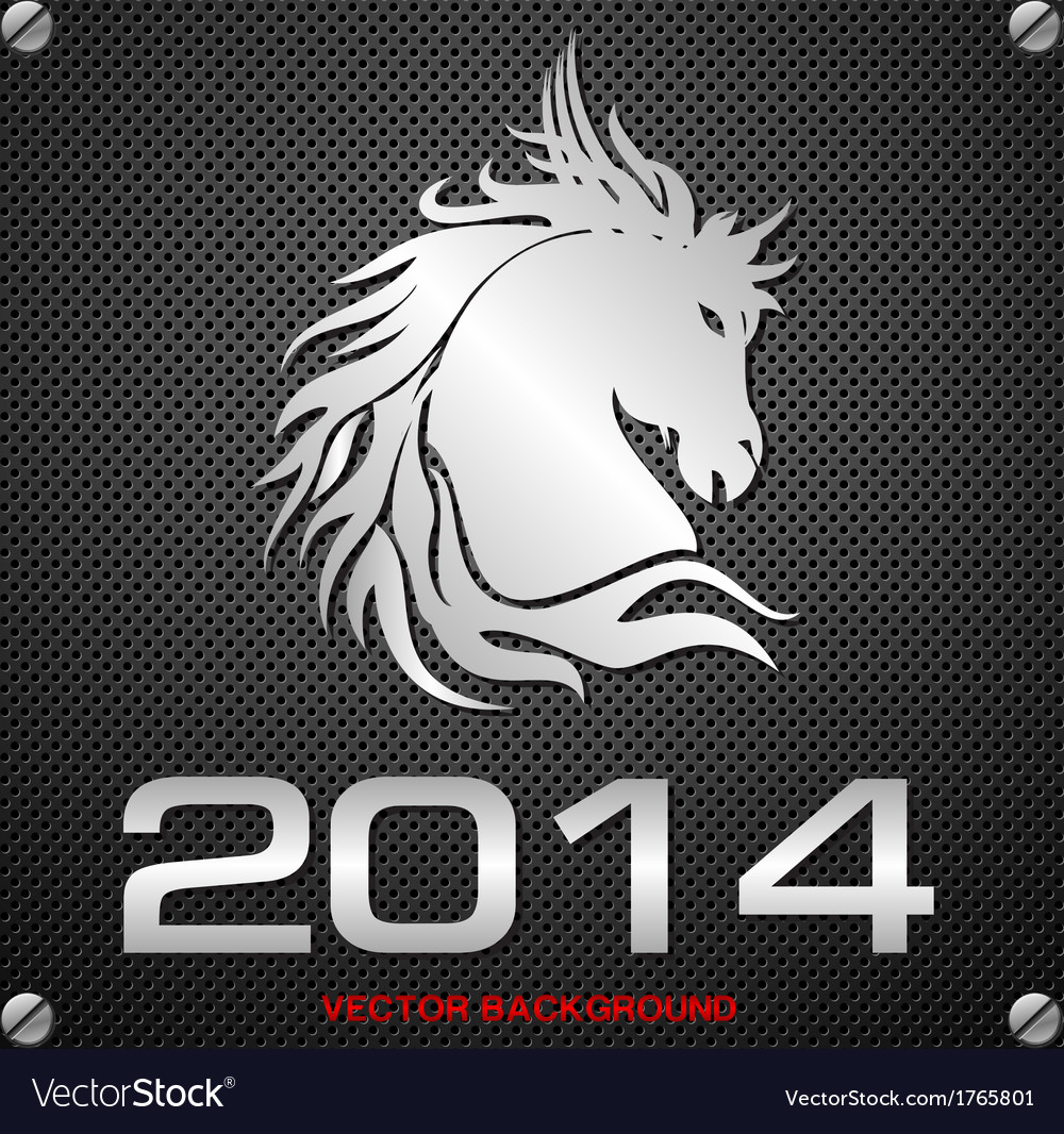 2014 horse background vector | Price: 1 Credit (USD $1)