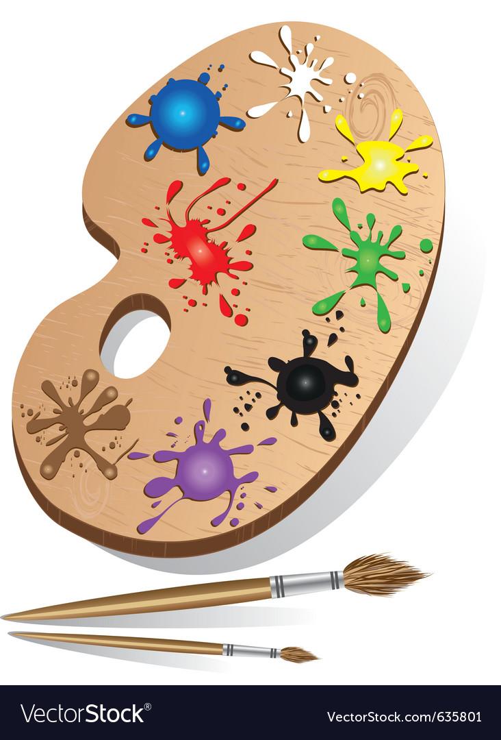 Art palette icon vector | Price: 3 Credit (USD $3)